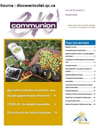 Journal En communion